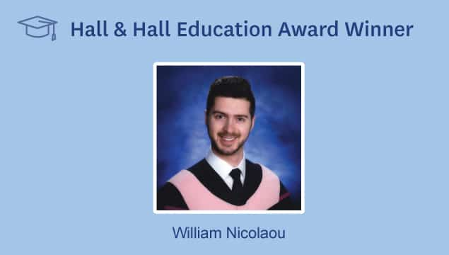 Hall & Hall Education Award