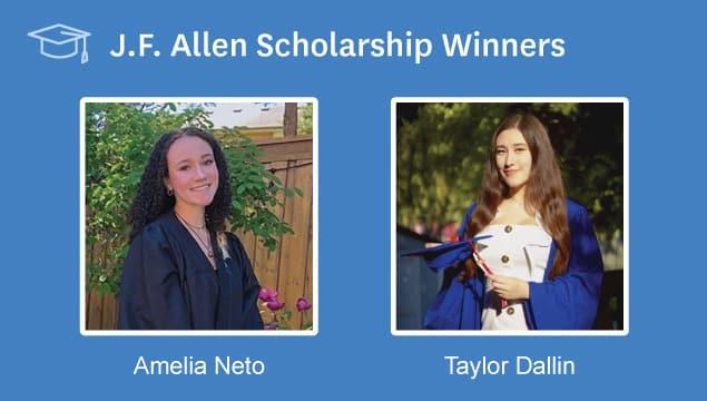 2020 JF Allen Scholarship Winners