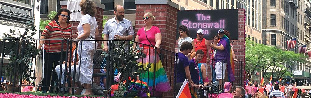 pride parade float stonewall