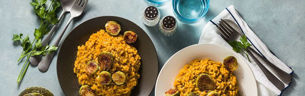 harvest meal brussel sprouts pumpkin rice